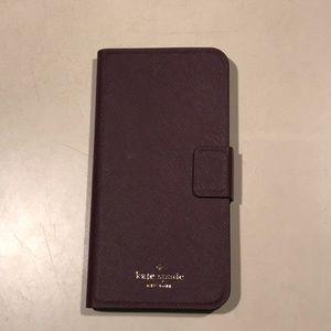 Kate Spade IPhone 8 Plus Portfolio Wallet Case EUC
